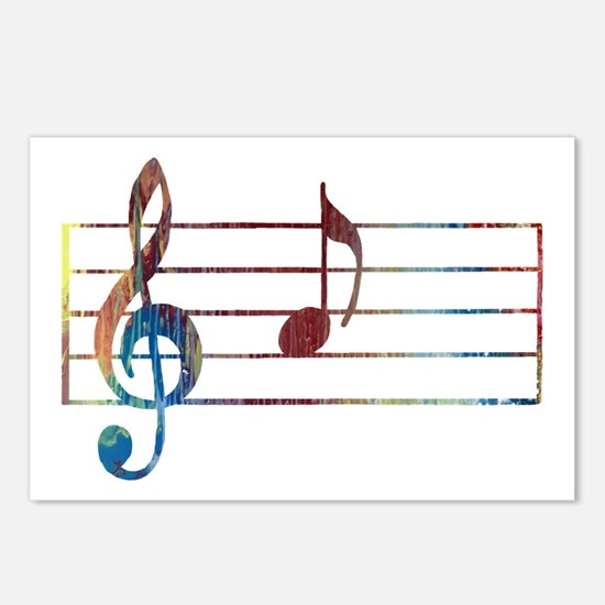 Musical Note Postcards (Package of 8)