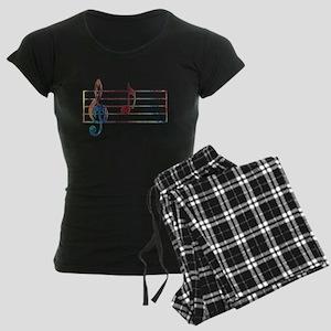 Musical Note Women's Dark Pajamas