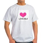 LOVEABLE Ash Grey T-Shirt