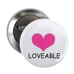 "LOVEABLE 2.25"" Button (100 pack)"