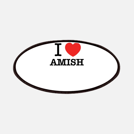 I Love AMISH Patch