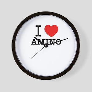 I Love AMINO Wall Clock
