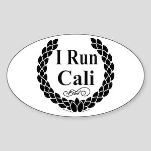 I Run Cali Oval Sticker