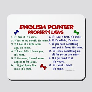 English Pointer Property Laws 2 Mousepad