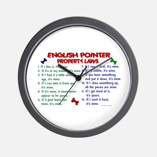 English Pointer Property Laws 2 Wall Clock