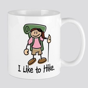 I Like To Hike Girl (Green) Mugs