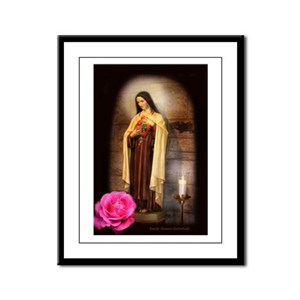 Saint Therese Framed Panel Print
