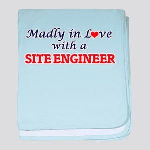 Madly in love with a Site Engineer baby blanket