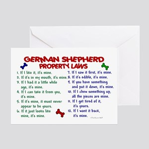 German Shepherd Property Laws 2 Greeting Card