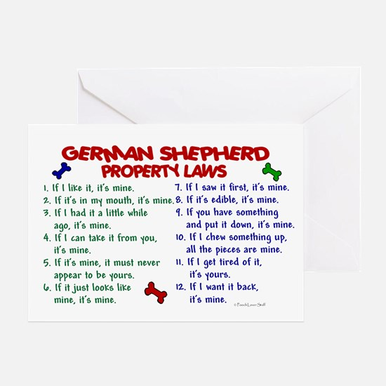 German Shepherd Property Laws 2 Greeting Card
