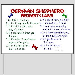 German Shepherd Property Laws 2 Yard Sign