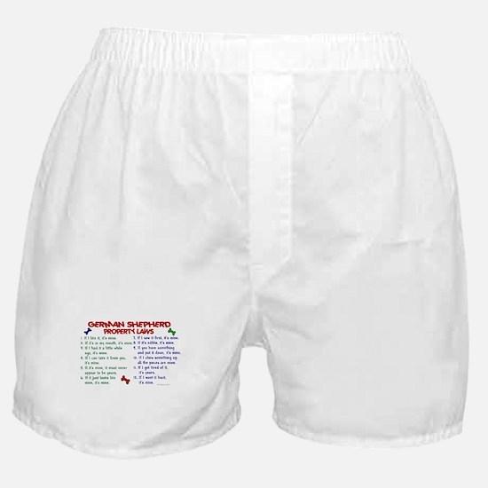 German Shepherd Property Laws 2 Boxer Shorts