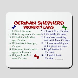 German Shepherd Property Laws 2 Mousepad