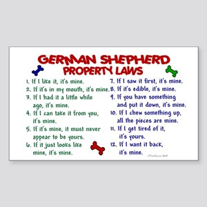 German Shepherd Property Laws 2 Sticker (Rectangul