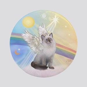 Ragdoll cat angel Ornament (Round)