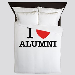I Love ALUMNI Queen Duvet