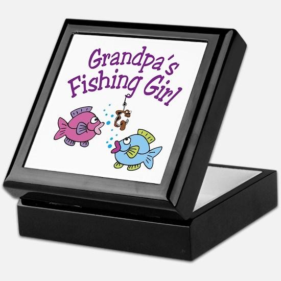 Grandpa's Fishing Girl Keepsake Box