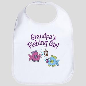 Grandpa's Fishing Girl Bib