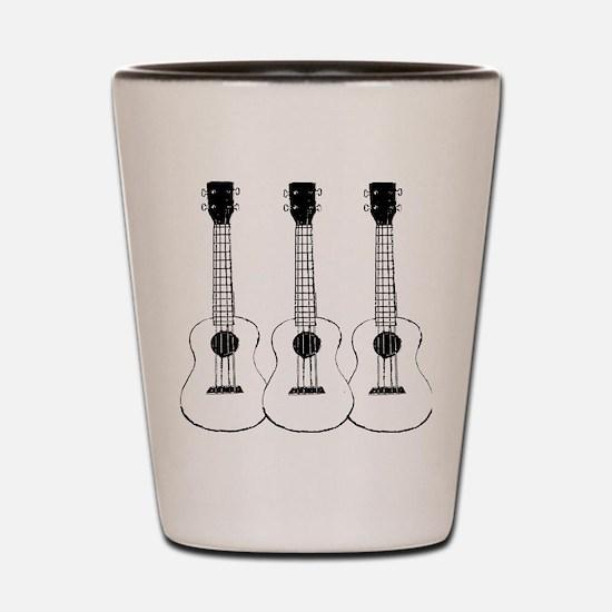 ukuleles Shot Glass