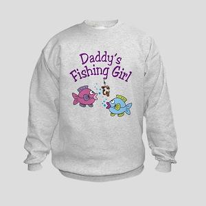 Daddy's Fishing Girl Kids Sweatshirt