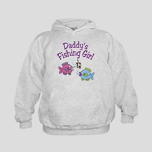 Daddy's Fishing Girl Kids Hoodie
