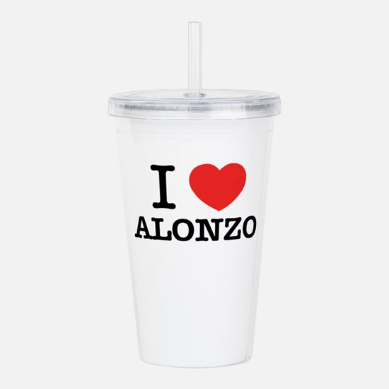I Love ALONZO Acrylic Double-wall Tumbler