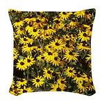 Black Eyed Susan Woven Throw Pillow