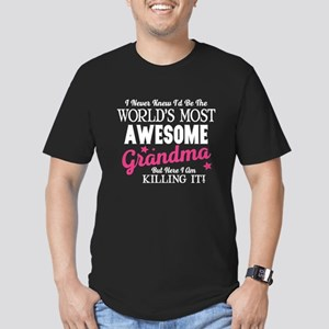 Awesome Grandma Men's Fitted T-Shirt (dark)