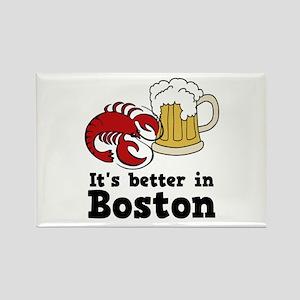 Better in Boston Rectangle Magnet
