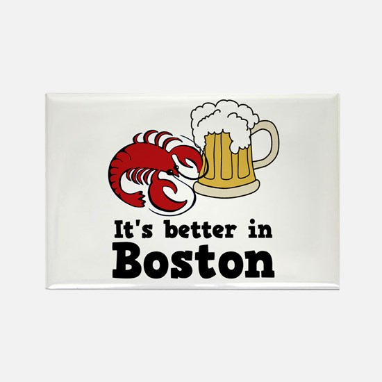 Better in Boston Rectangle Magnet