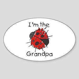 I'm the Grandpa Ladybug Oval Sticker