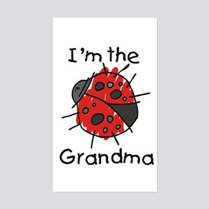 I'm the Grandma Ladybug Rectangle Sticker