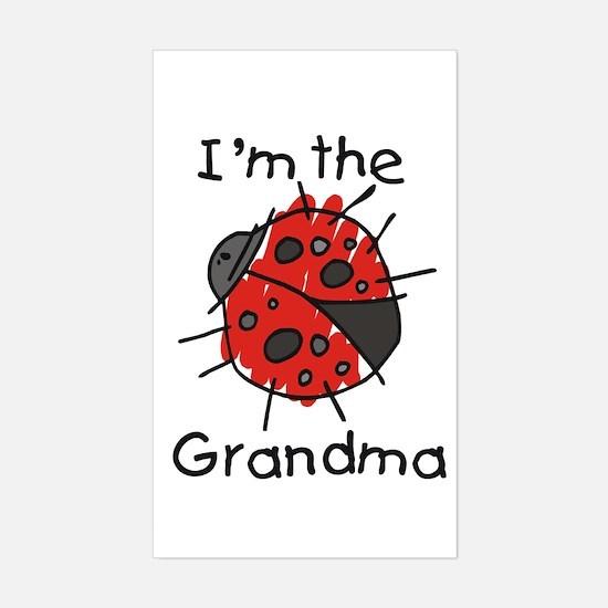 I'm the Grandma Ladybug Rectangle Decal