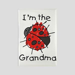 I'm the Grandma Ladybug Rectangle Magnet