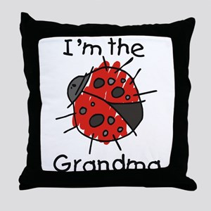 I'm the Grandma Ladybug Throw Pillow
