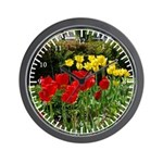 Red & Yellow Tulips Wall Clock