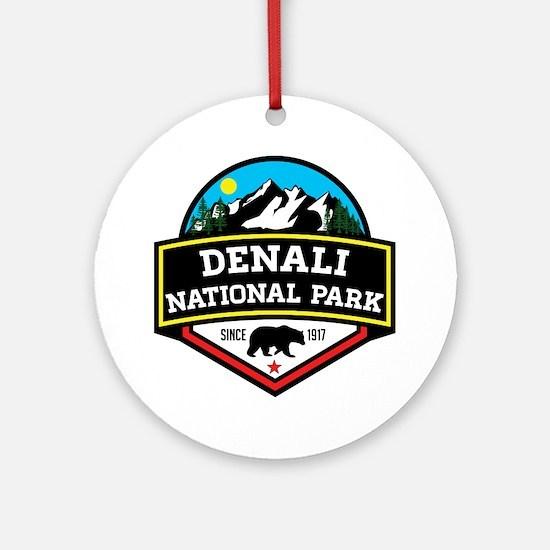 Unique Denali Round Ornament