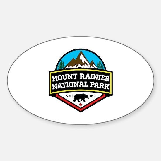 Cute Mount rainier Sticker (Oval)