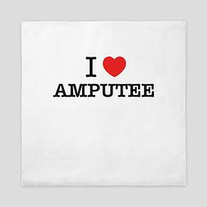 I Love AMPUTEE Queen Duvet