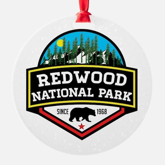 Unique Redwood national park Ornament