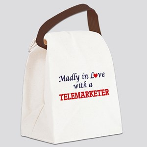 Madly in love with a Telemarketer Canvas Lunch Bag