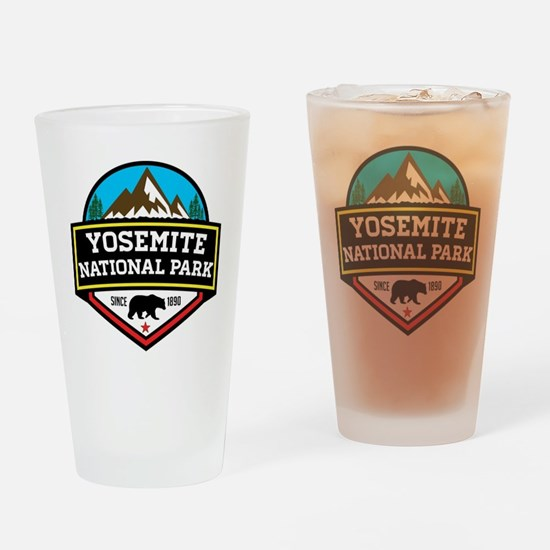 Cute Yosemite national park Drinking Glass