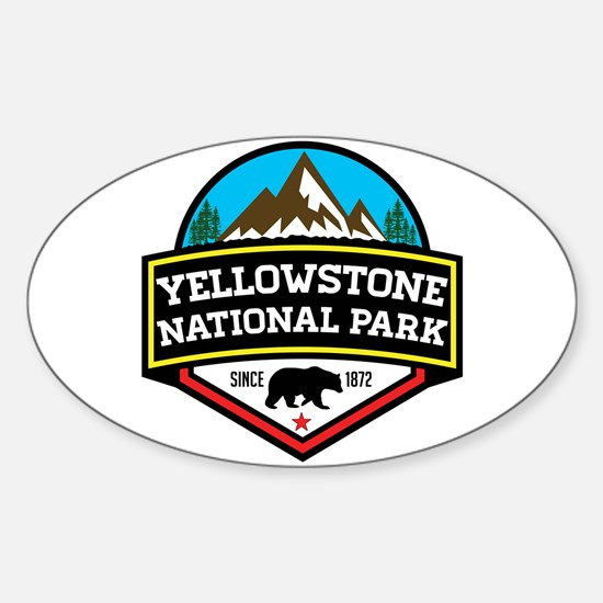 Cute Yellowstone national park Sticker (Oval)