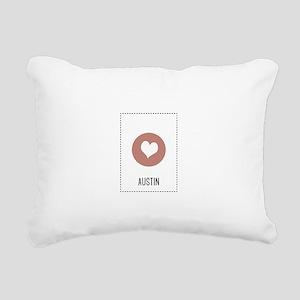 I Love Austin Rectangular Canvas Pillow