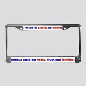 Liberty not Death License Plate Frame