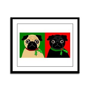 Holly - Black & Fawn Framed Panel Print