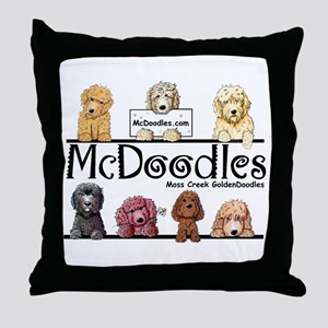 Goldendoodle McDoodles Throw Pillow