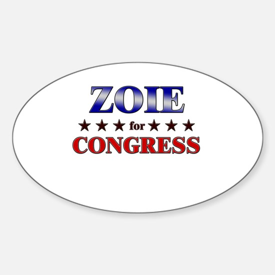 ZOIE for congress Oval Decal