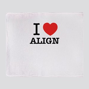 I Love ALIGN Throw Blanket