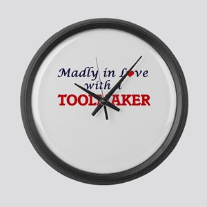 Madly in love with a Toolmaker Large Wall Clock